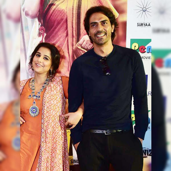 Vidya Balan and Arjun Rampal caught in an adorable moment during Kahaani 2 promotions