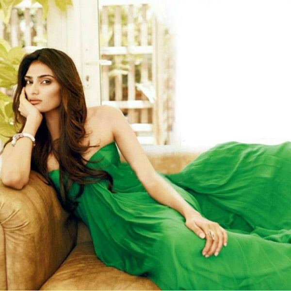 Athiya Shetty in sexy green gown during a photoshoot