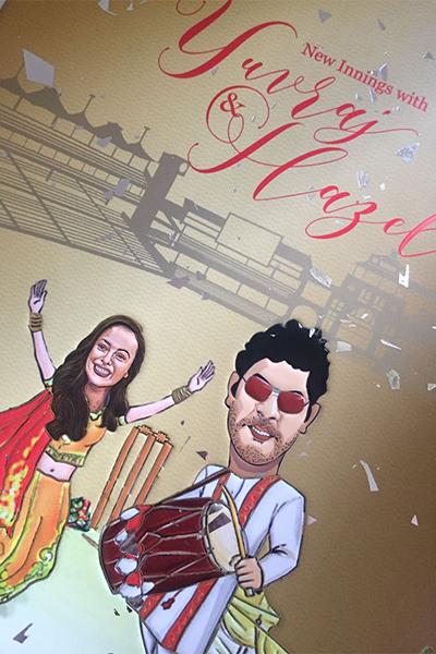 Check out Yuvraj Singh and Hazel Keech's wedding invitation card