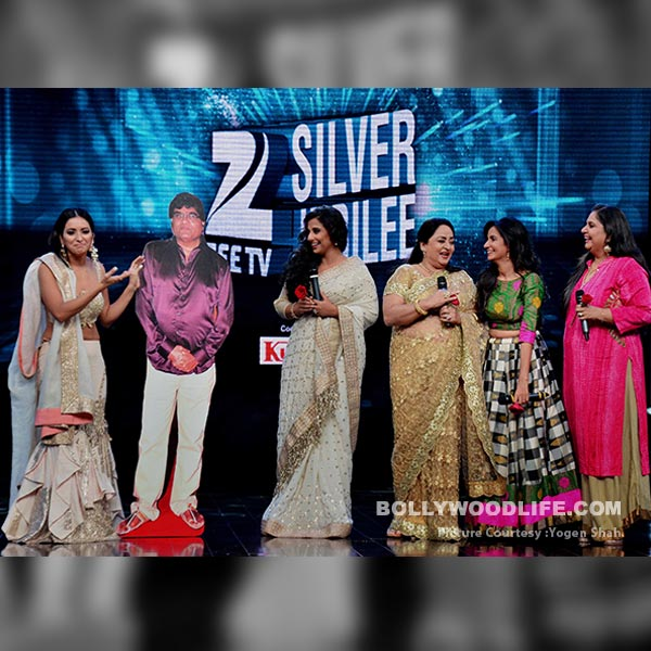 During the event Vidya Balan and the other cast were seen with a live size poster of Ashok Sharaf.