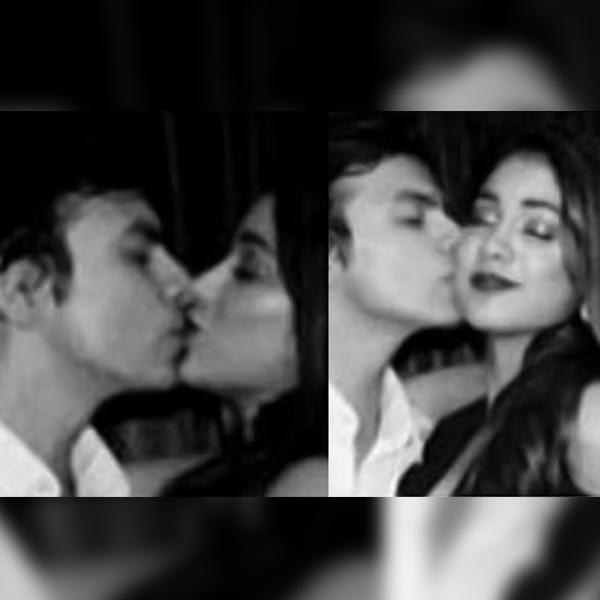 Jhanvi Kapoor was caught kissing her boyfriend Shikhar Pahariya at a party