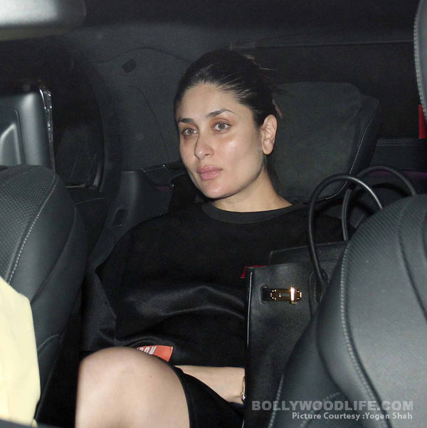 Kareena Kapoor Khan was snapped leaving her close pal Karan Johar's residence after the party