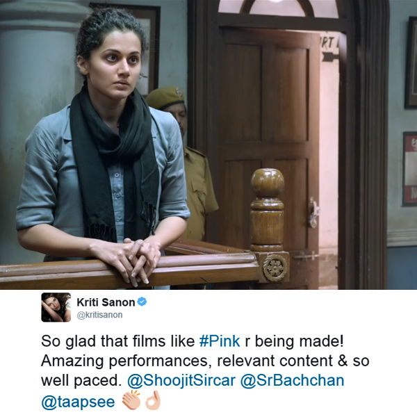 Kriti Sanon was also in awe of Amitabh Bachchan's PINK movie