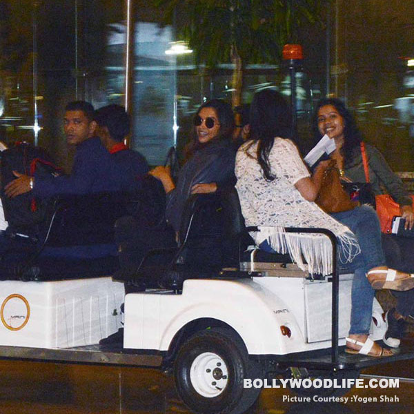 Ranveer Singh and Deepika Padukone spotted together at the airport