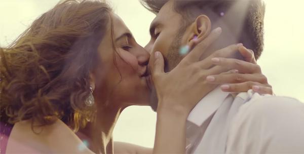 Ranveer Singh and Vaani Kapoor share an intimate kiss in Befikre.