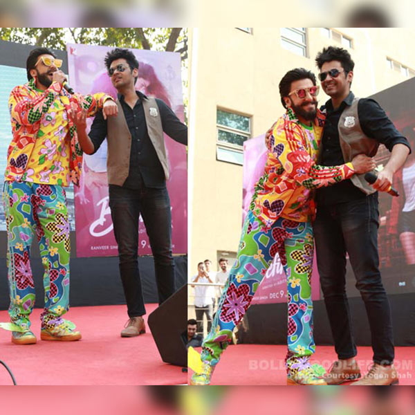 Ranveer Singh was seen mingling with the students