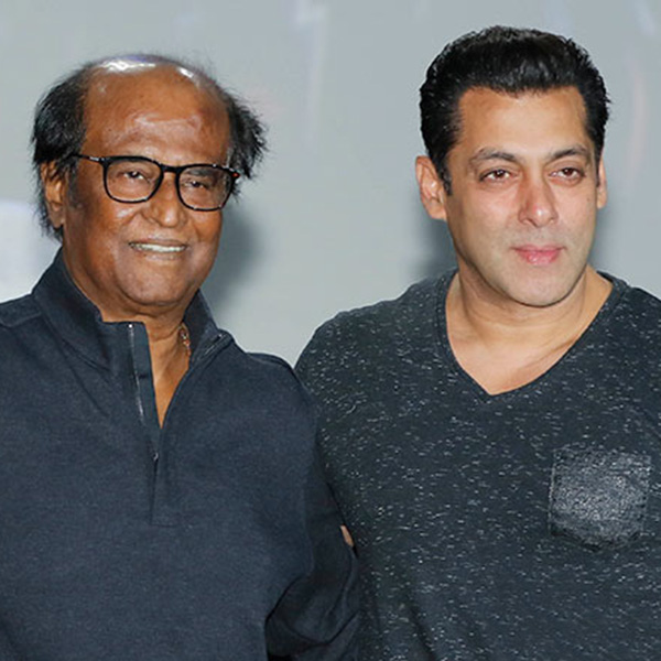 Salman Khan and Rajinikanth were seen together at the first look launch of 2.0