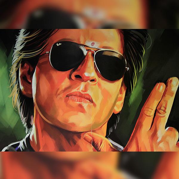 Shah Rukh Khan as Raj from Chennai Express