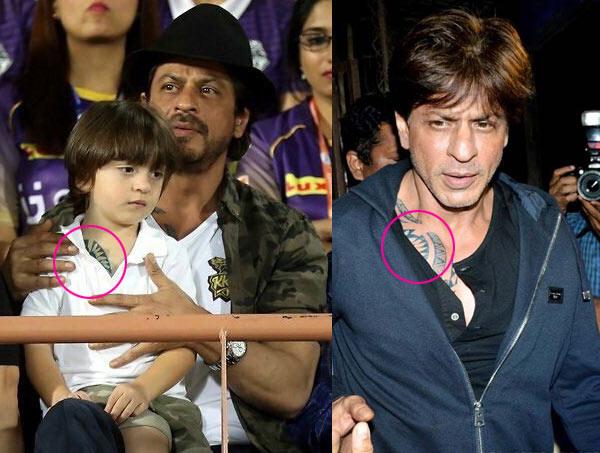 Abram-Khan-and-Shah-Rukh-same-way-of-dressing-2